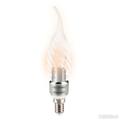 Лампа Gauss LED BXS35 Candle Tailad Special Crystal clear 5W E14 2700K НА133201105-D